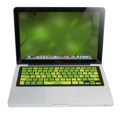 Iskin Silicone - iSkin Green and Light Green Dragon Fly Keyboard Protector with Microban for MacBook, MacBook Pro and MacBook Air (PTVBMB-KI)