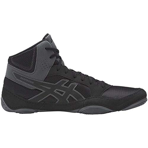 ASICS Mens Snapdown 2 Wrestling Shoe, Black/Carbon, 10 Medium US