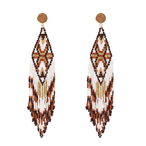 Tiered Tassel Drop Earrings Fashion Jewelry Tassel Earrings Bohemian Dangle Drop Earrings For Women Girls Tassel Earrings(brown) ()