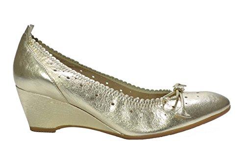 Melluso Decolte' zeppa platino scarpe donna R2515