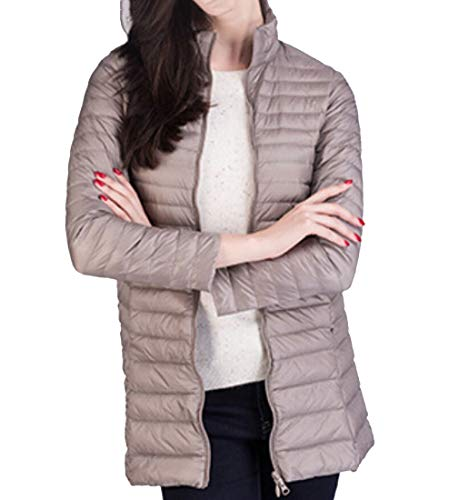 Ultra Winter Khaki Packable Down Jacket Light EKU Coat Puffer Down Women 5fwqvt1