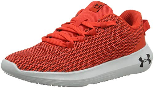 Under Armour Women's Ripple Sneaker, Radio Red (600)/Black, 9.5