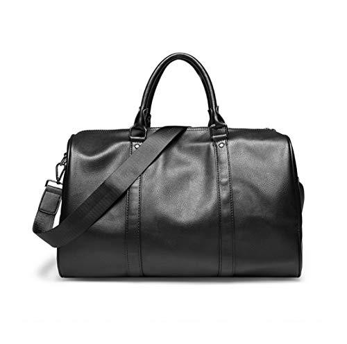 Fonctionnel Shoulder Bags Sacs Besace Multi Business Meceo Pu Grande Porte Travail Imperméable Main fonction Noir Capacité Sac Hommes Cuir YqO1gB