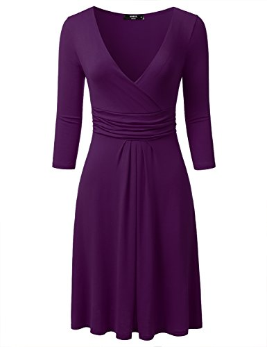 Surplice V-Neck Dress - 6