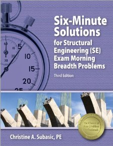 Six-Minute Solutions for Structural Engineering (SE) Exam Morning Breadth Problems [Paperback] [2012] Third Edition, New Edition Ed. Christine A. Subasic PE