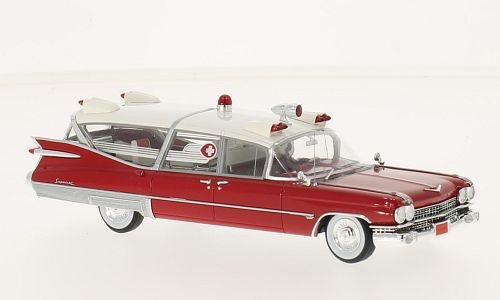 1959 Cadillac Ambulance (Cadillac S&S Superior, ambulance, 1959, Model Car, Ready-made, Neo 1:43)
