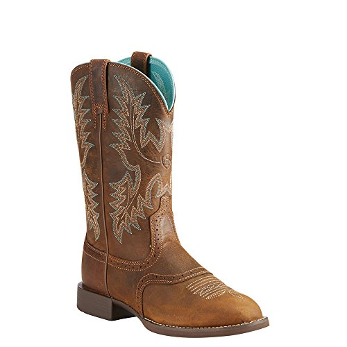 Ariat Women's Heritage Stockman Western Boot, Sassy Brown, 9.5 B US