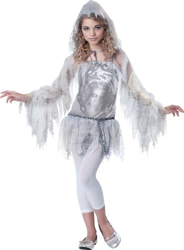 InCharacter Costumes Tween Sassy Spirit Ghost Costume, Small
