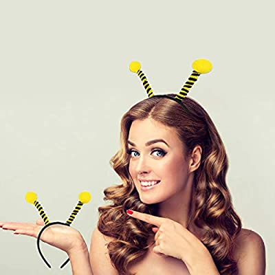 Trounistro 10 Pack Bee Tentacle Headbands Bee Hair Bands Hair Hoop for Women Girls Halloween Christmas Party Supplies: Toys & Games
