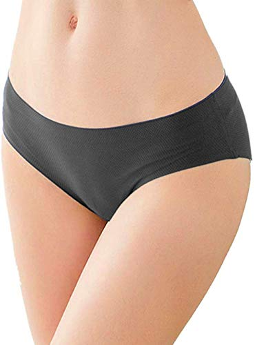 OUXBM Womens Underwear Seamless 3 Pack, No Show Panties for Women(Small,Black)