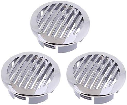 丸形ガラリ 通気口 換気口 ステンレス鋼 耐食性 装飾 取り付け簡単 シルバー 3個入り