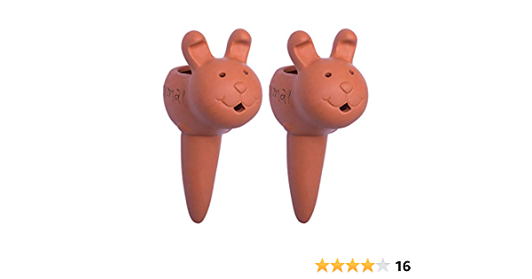 Hippo, Pig Self-Watering Stakes for Indoor Plants Finduat 2 Pack Plant Watering Spikes Self Watering Spikes Terracotta Watering Spike for Small and Medium Sized Plants