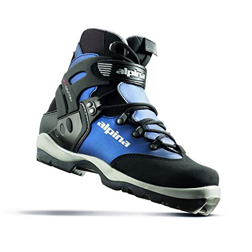 Alpina Women's BC-1550 Eve Back-Country Nordic Cross-Country Ski Boots, for use with NNN-BC Binding, Black/Blue, 40