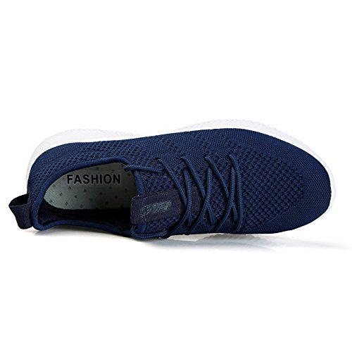 Bequeme Damen 45 Sneaker Luftdurchlässige Herren Leichte Gr Laufschuhe Blau 35 und Schuhe Knit xHBP8wx