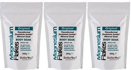 (3 PACK) - BetterYou - Magnesium Flakes Body Soak | 250g | 3 PACK BUNDLE