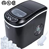 Contemporary Design 35 lb. Freestanding Countertop Ice Machine, Black