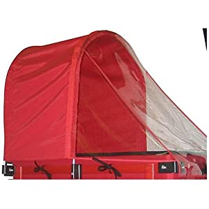 Millside Red Half Canopy with Removable Clear Weather...