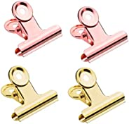 STOBOK Bulldog Metal Clips,10 Pack Stainless Steel Hinge Clips Clamps for Pictures Photos,Bags,Home Kitchen,Of