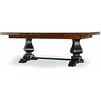 Amazoncom Hooker Furniture Sanctuary Refectory Dining Table in