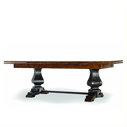 Hooker Furniture Sanctuary Refectory Dining Table in Ebony and Drift