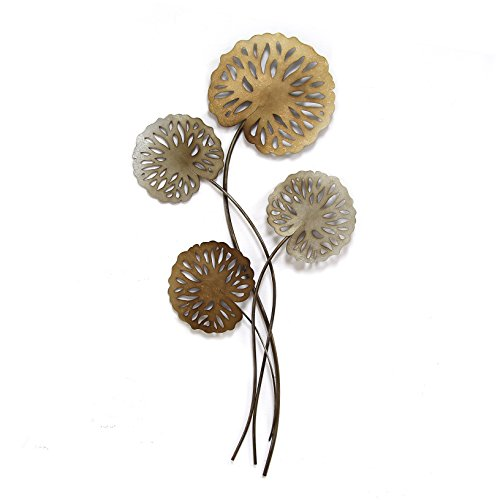 Water Lily Metal (Stratton Home Decor SHD0183 Water Lilies Wall Decor)