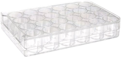 United Scientific F1004 Clear Polystyrene Well Plate, 24 Wells, Non-Sterile (Pack of 10)