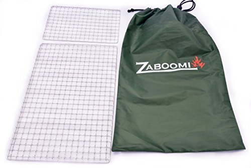 - Zaboomi Stainless Steel Mesh Grill, Perfect for Camping, Bushcraft and Backpacking (10