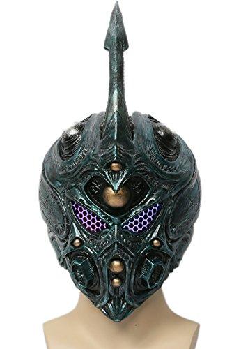 Costume Guyver Cosplay (Guyver Mask Deluxe Green Helmet with Detachable Horn Cosplay Costume Accessory)