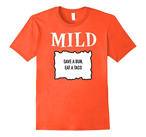 Mens Mild Sauce Packet ' Save a Bun, Eat a Taco' Halloween Shirt 3XL Orange (Play On Words Halloween Costumes For Groups)