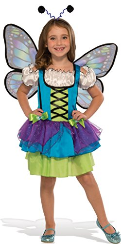Easy Middle School Halloween Costumes - Rubie's Child's Glittery Blue Butterfly Costume,