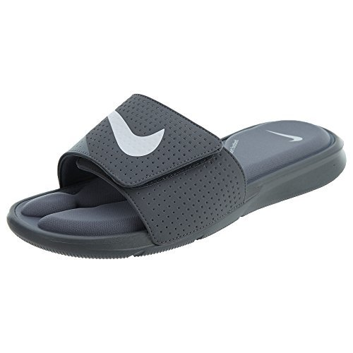 sneakers for cheap a92eb fe7c4 Nike Men s Ultra Comfort Slide-Cool Grey White-9