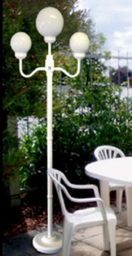 Outdoor Lamp Company (201W) 70 Inch Tall Stem with 3 Globe Economy Street Lamp - - Lamp Economy