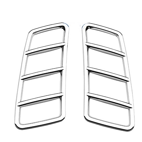 HIGH FLYING 2PCS ABS Front Bonnet Machine Cover Outer Air Vent Trim For Mercedes-Benz GLE-Class W166 Coupe C292 2015-2018