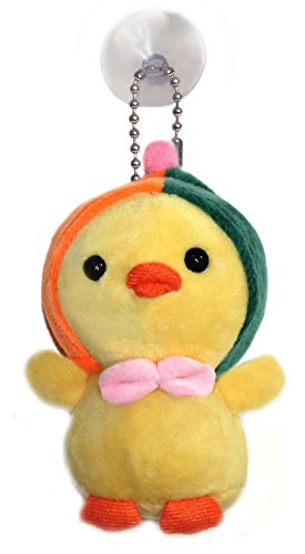 Lucore Hoodie Baby Chick Plush Stuffed Animal Keychain - Hanging Toy Doll, Lucky Charm & Ornament (Orange/Green) ()