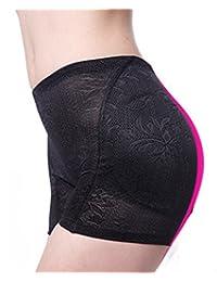 SAYFUT Women's Jacquard Shapewear Hip and Butt Padded Panty Black