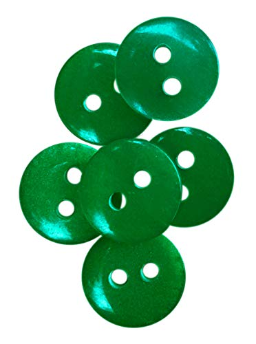 NDC Emerald Green Sewing Craft Buttons 100 Pack