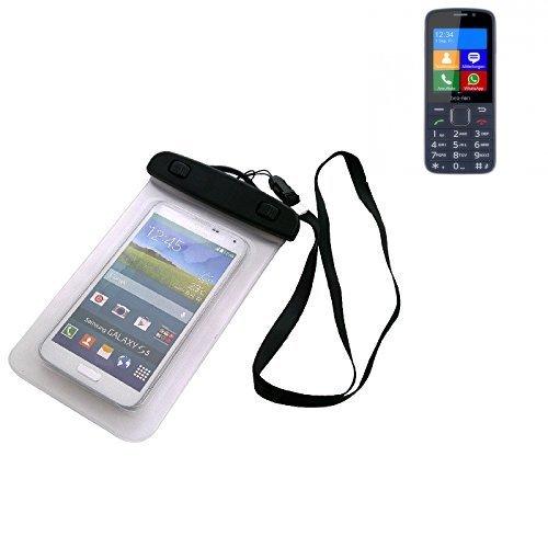 Custodia Cellulare Impermeabile Universale Pollici Waterproof Cover Case per bea-fon SL820. Universale Beach Bag / parapioggia / manto nevoso 16 centimetri x 10 centimetri - K-S-Trade(TM)