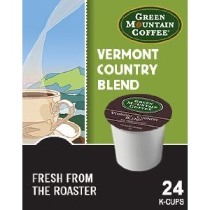 Green Mountain Coffee Vermont Country Blend, K-Cup Division Pack for Keurig K-Cup Brewers (Pack of 48)