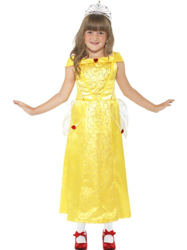 Smiffys Belle Costume (Smiffys Girl's Yellow Belle Beauty Costume - Small Age 4-6)