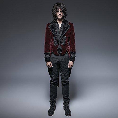 Steampunk Coat Gothic Clothing Swallow Tail Clothes Punk Winter Jacket Renaissance Costume by PunkRave (Image #3)