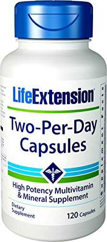 Capsules Supplement Mineral 120 - Life Extension Two Per Day (High Potency Multivitamin & Mineral Supplement), 120 Capsules