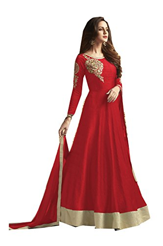 Asmafashion Store Indian Women Designer Partywear Ethnic Traditonal Red Anarkali Salwar Kameez. by Asmafashion Store