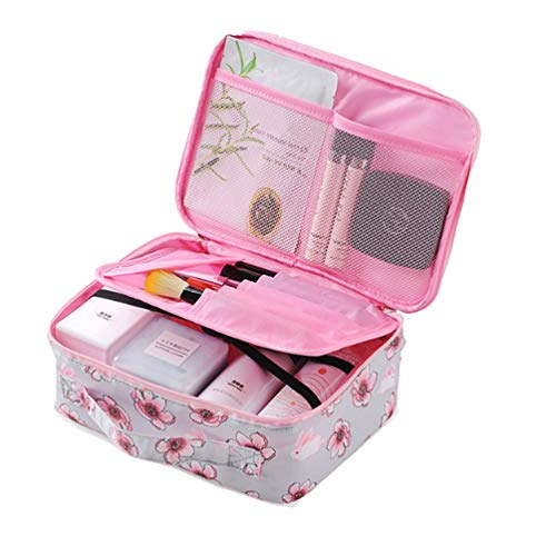Ac.y.c Multifunction Cosmetic Bag Toiletry Bag Portable Makeup Pouch Waterproof Travel Organizer Bag for Women Girl