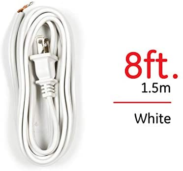 Ge Lamp Cord Set With Molded Plug 8 Foot White 54475 Extension Cords