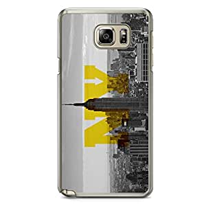 New York Samsung Note 5 Transparent Edge Case - Cities