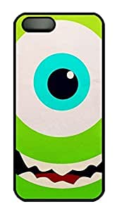 Rubber Back and DIY Case Cover For iPhone 5C Custom Soft TPU Single Shell Skin For iPhone 5C-Cute Green Monster