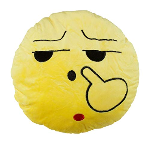 Yellow Pillow Xmas Gift Party Supply Plush Home décor face Shape N3115 ()