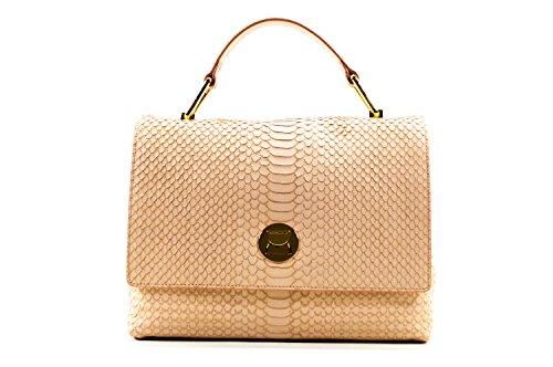 Coccinelle Liya Python handbag leither grapefruit