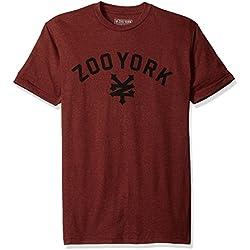 Zoo York Men's Short Sleeve Immuergruen T-Shirt, Biking Red Heather, Large