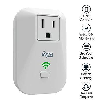 KMC KMC 2-pack Smart Plug Outlet Mini,Works Amazon Alexa Google Home IFTTT white